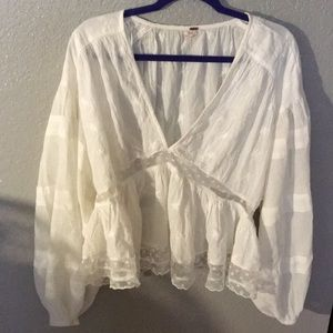Free People white tunic top (Medium)